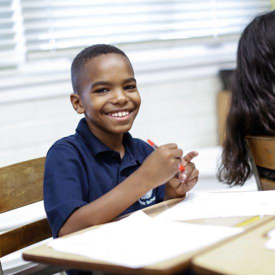Boy attending an OPLA Event